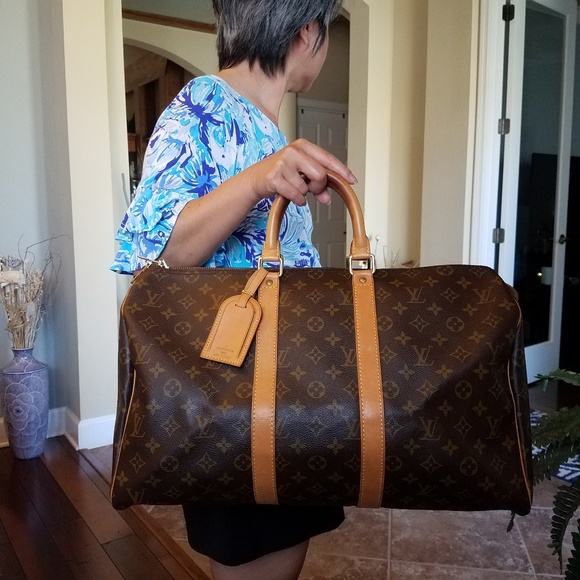 Louis Vuitton Handbags - SOLD@! Auth. Louis Vuitton keepall Mono 45 Carry_